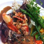 Veal chop with Lobster Sauce & Crab cake ...Amazing !