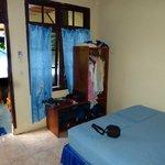 Blick auf Terrasse/ kleines Zimmer
