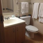 Bathroom - room 213 (very clean, no mold and and excess of clean towels)