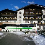 Front of the hotel - somewhat obscured by our 'JUMBULANCE'!