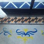 Flooring -- hand-painted decorations
