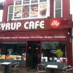 Outside of the Syrup Cafe. Try it, you'll like it!