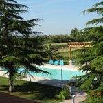 piscina tra il verde