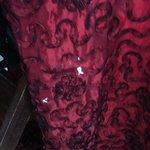 Paint splattered curtains