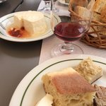 Local cheese, breads and wine