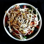 ensalada de espinacas y brotes de soja