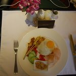 A quick room service breakfast