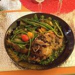 garlic lamb and vegetables