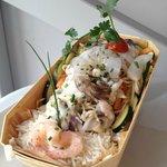 Riz Basmati farandole de légumes aux Fruits de mer
