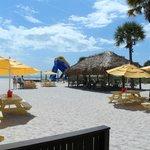 Beach view from Rumrunners Lounge/Restaurant