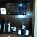 coffee maker in room