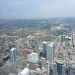 Hotel location from CN Tower