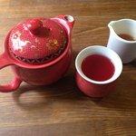 Beautiful tea served in lovely tea pots.