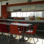 giant open kitchen at Masaya