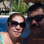 Having  fun with my wife Andrea at the majestic pool.