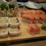 サーモン寿司プレート