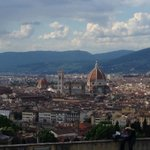 The view of florence from the hill I biked up with LovE Bike