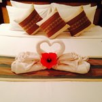 Resort bed with romance pack
