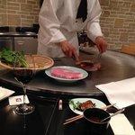 In the steak restaurant of the hotel, that serves Kobe beef, very tasteful menu and great servic