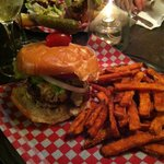 Southside burger and yam fries