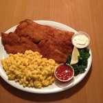 Friday's Lunch Special: JUMBO (3 pieces) Fish on a Dish with Mac & Cheese $9.95. Small $7.00 1 p