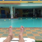 now this is relaxation, Las Lajas style!