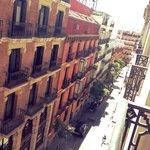 Utsikt från balkongen (inte calle atocha)
