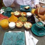 Le petit déjeuner est très copieux