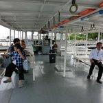 Ferry leaving Tha Tien Pier