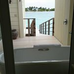 Bath tub in the open area & facing this view!