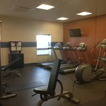 Great gym next to pool