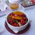 les fruits frais commandés pour le petit déjeuner
