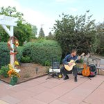 outside patio. private musician Michael Lancaster