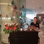 This is ARZU the breakfast receptionist she welcome the guests every day with beautiful smile :)