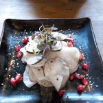 lotus root, black radish and pomegranate salad