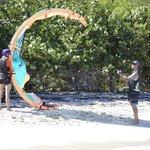 Duncan teaching in the Eustatia Sound