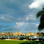 The beach and a rainbow!