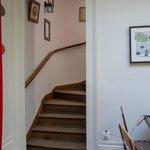 l'escalier qui mène aux chambres