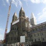 Cathédrale de Tournai (travaux en juin 2014)