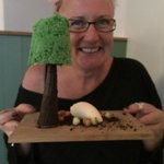 pistachio Tree with chocolate trunk and ice cream sheep