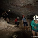 Tourists descending into the Crystal Cave