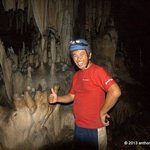 Reviewer inside the Crystal Cave
