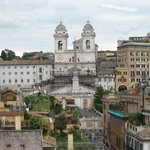 View of Spanish Steps from rooftop terrace