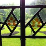 Original stained glass from the early 15th century.
