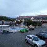 Motel yard at dusk