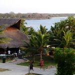 Vista bar y playa