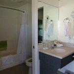Tiny bathroon of KING room