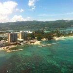 View of Sunset Resort parasailing