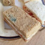 The mouldy sandwiches we were served after paying £90 EACH for half day in the spa.