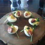 The infamous deviled eggs at Crystal Tavern